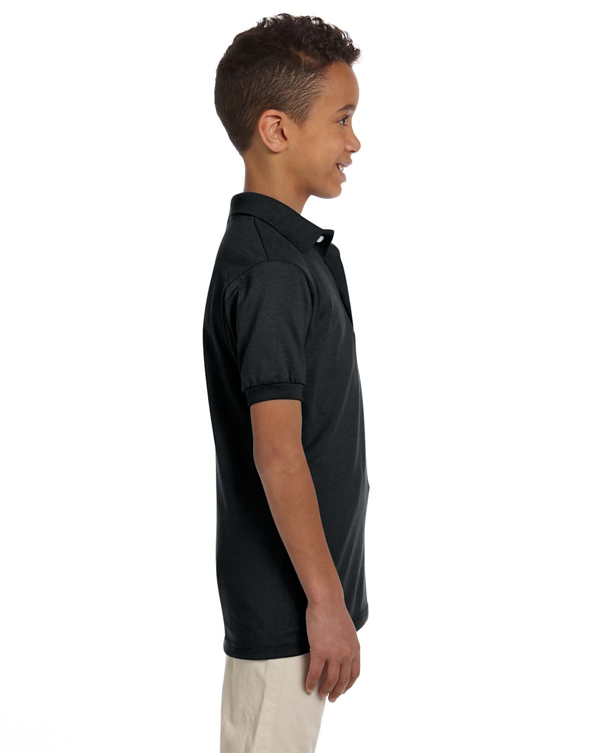 NEW Jerzees Youth 5.6 oz SpotShield Jersey Polo Shirt M-437Y