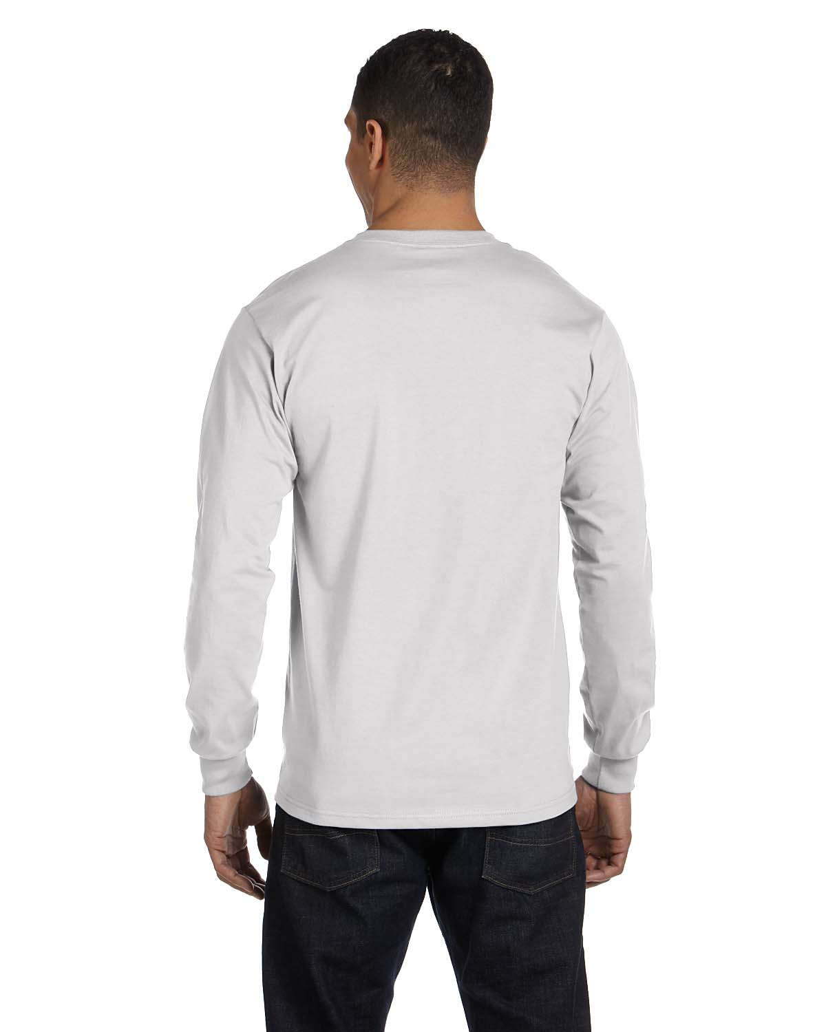 NEW Hanes 6.1 oz 100% Cotton Long-Sleeve Beefy-T S-XL T-Shirt R ...
