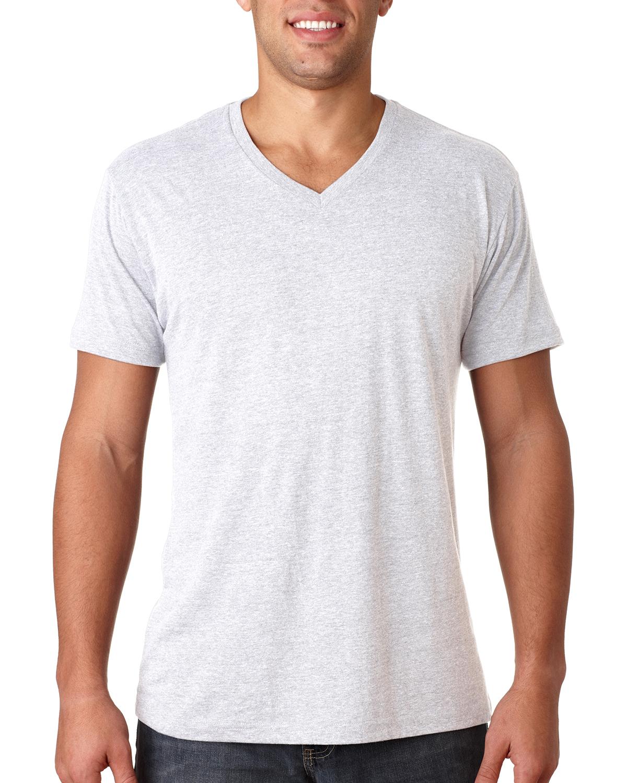 Next level men 39 s preimuim fit triblend v neck s xl t shirt for 100 cotton v neck t shirts wholesale