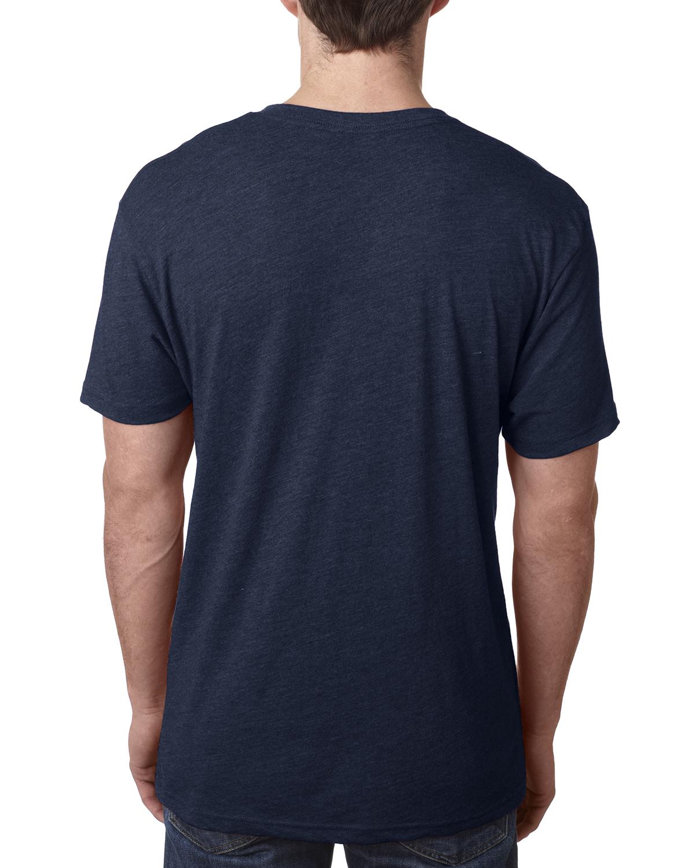 Next level men 39 s preimuim fit triblend v neck s xl t shirt for Poly blend t shirts wholesale