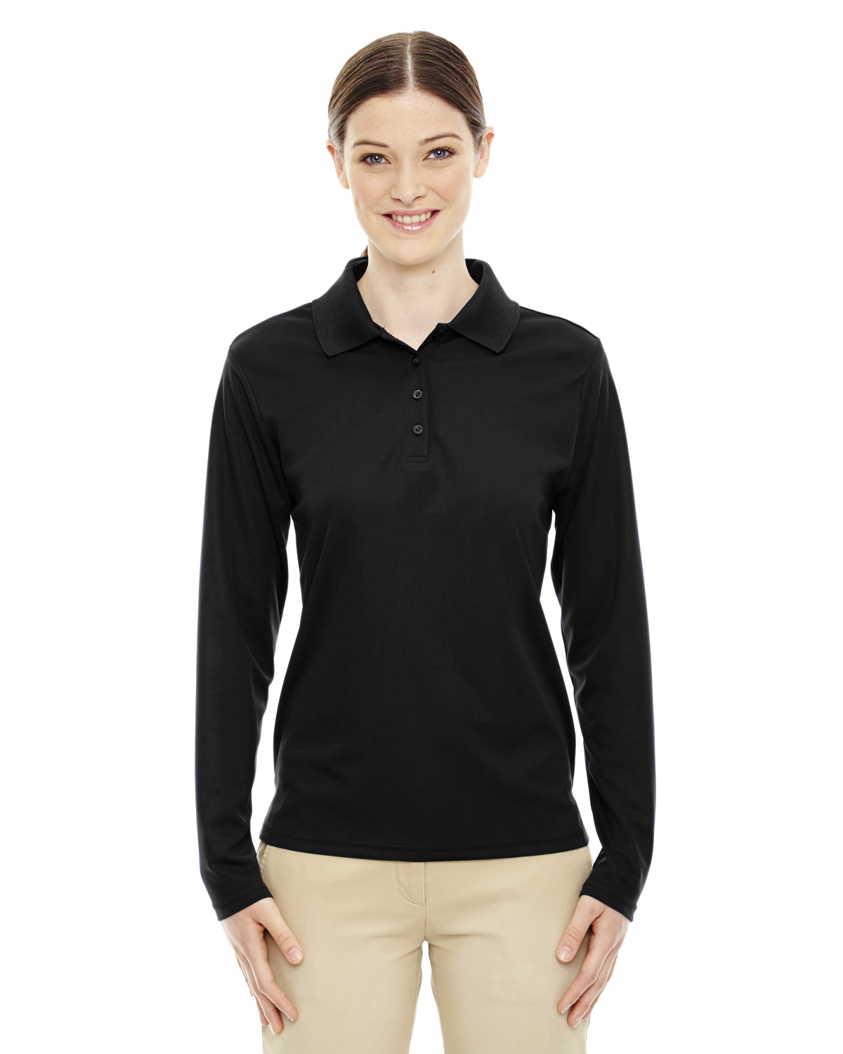Core 365 Womens Uv Protect Performance Long Sleeve Piqu S