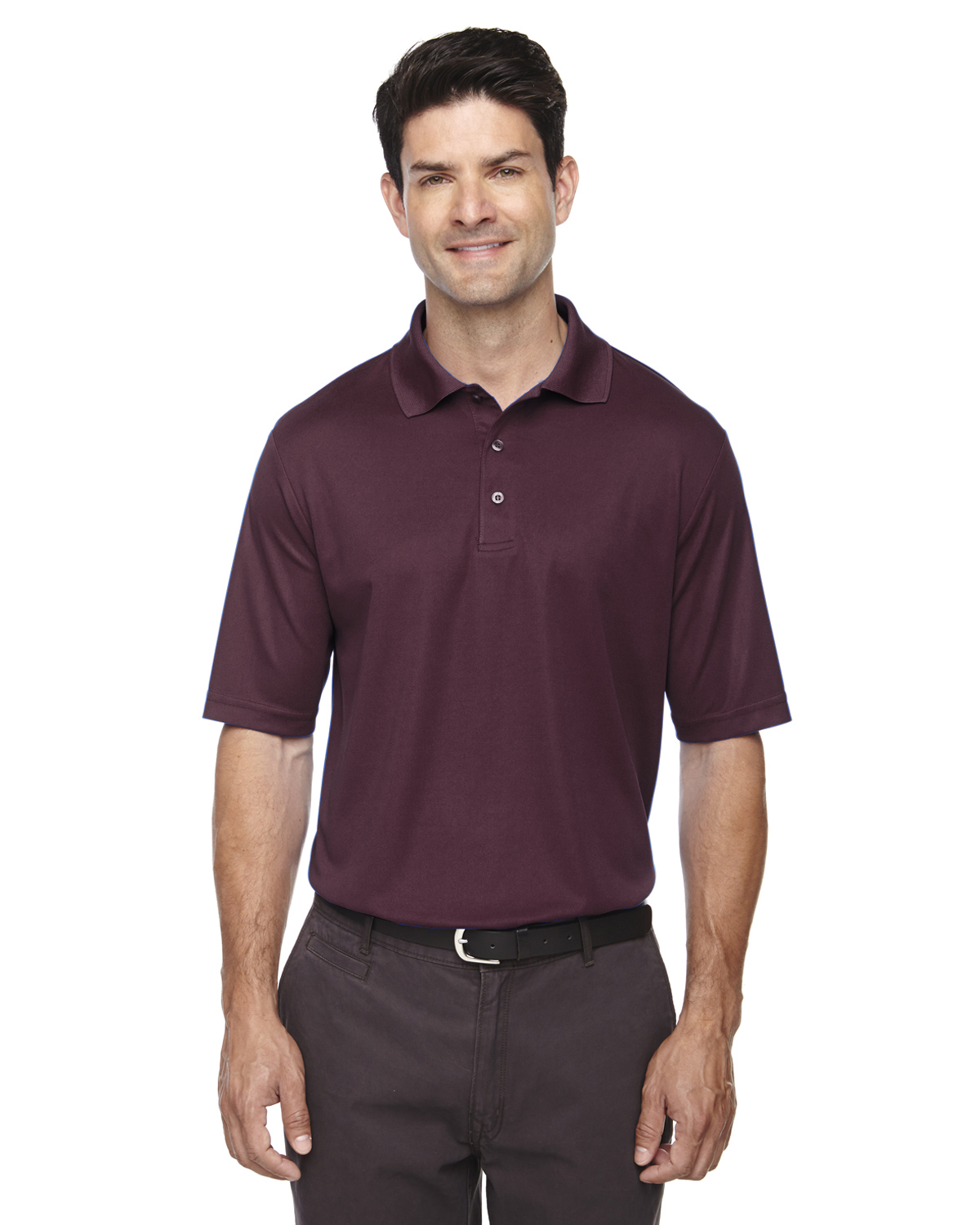 New core 365 men 39 s 100 polyester performance piqu polo s for Men s polyester polo shirts