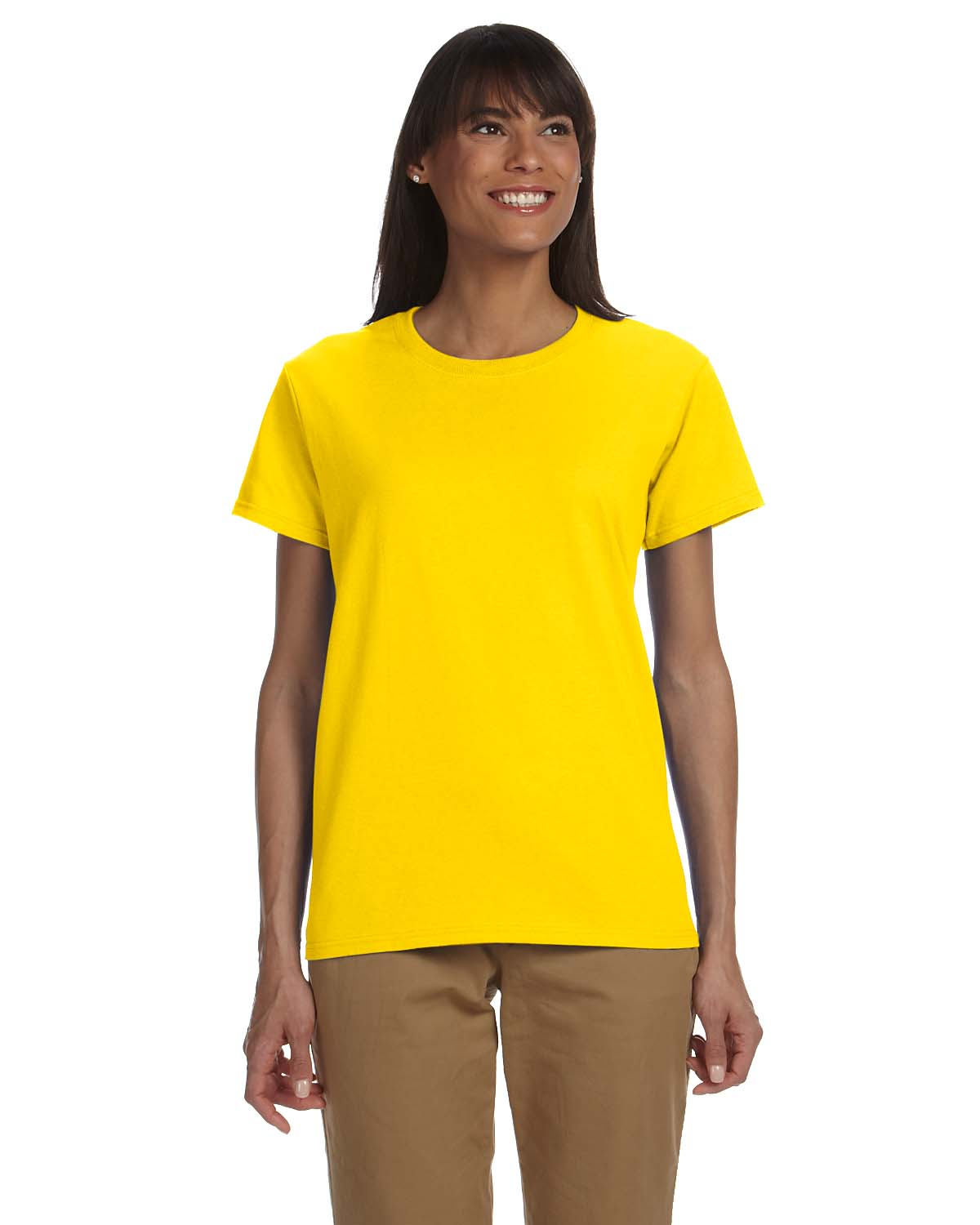 New gildan heavy weight ultra cotton women 39 s short sleeve for Gildan brand t shirt size chart