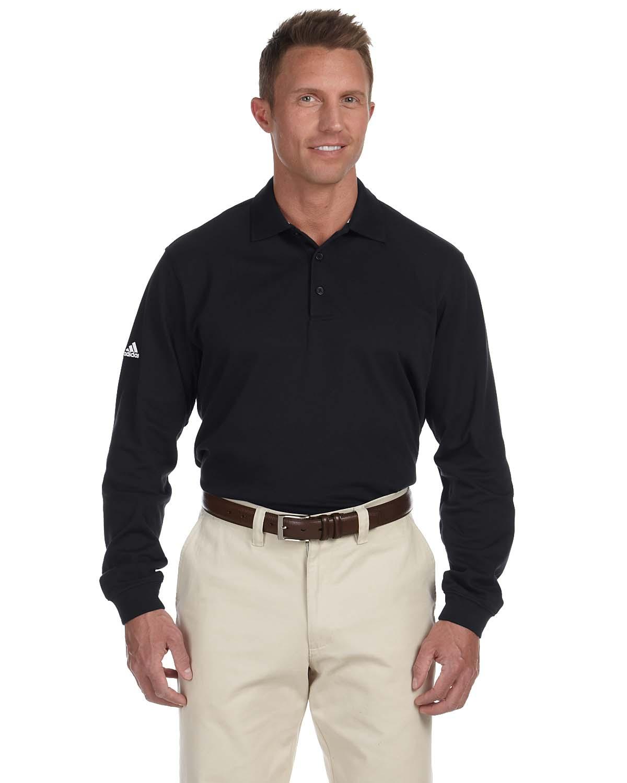Adidas Golf Mens Climalite Tour Pique Long Sleeve Polo
