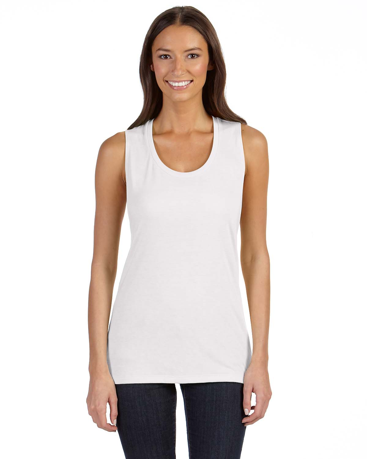 Bella Canvas Women 39 S Flowy Scoop Muscle Tank Top Shirt M