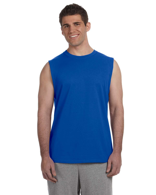 Wholesale blank G Gildan Adult Ultra Cotton Sleeveless T-Shirt, buy in bulk.