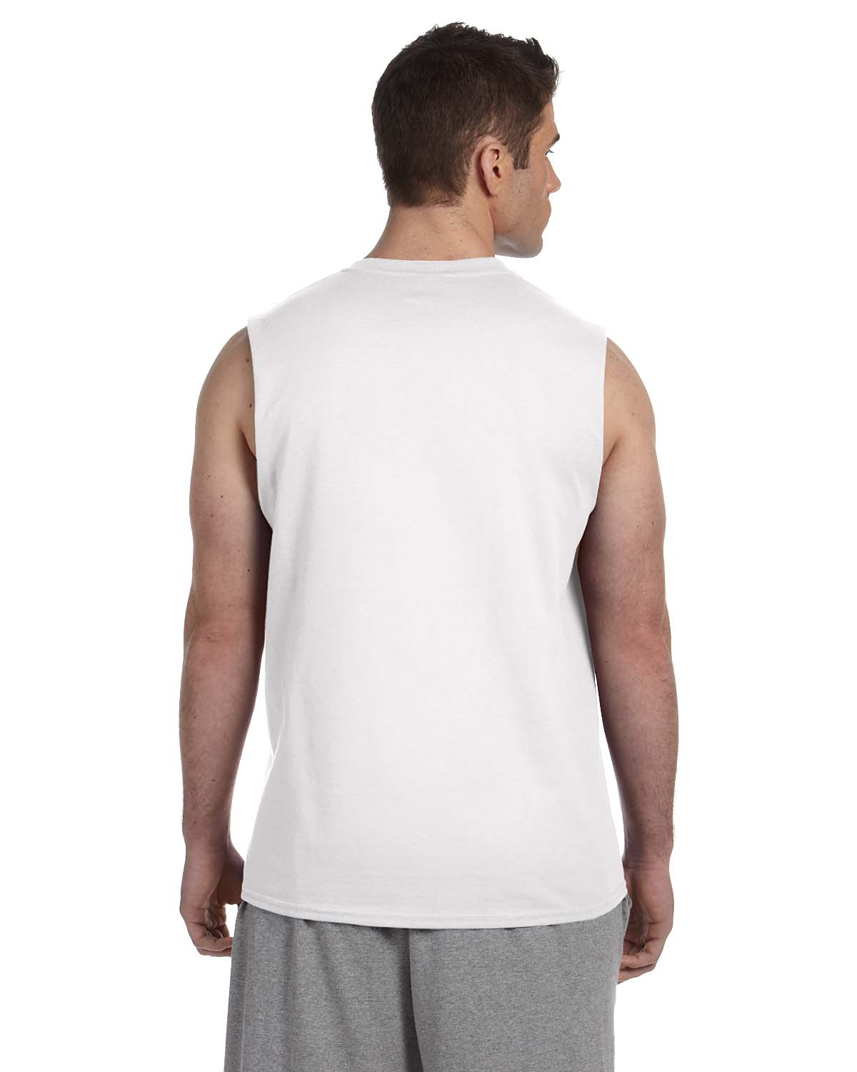 Gildan mens 6 oz 100 ultra cotton sleeveless muscle for Mens 100 cotton t shirts