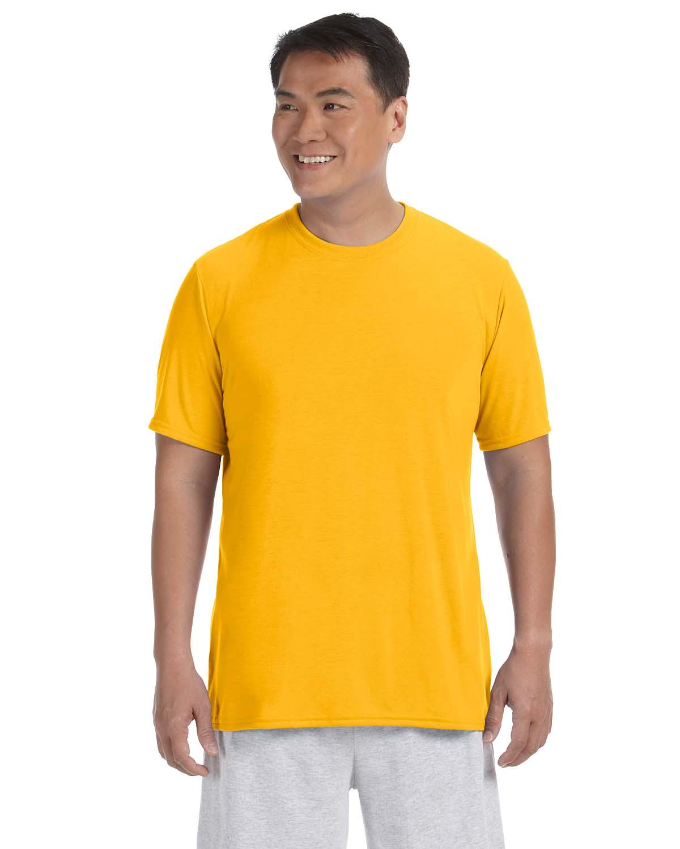 Gildan performance 100 polyester 4 5 oz short sleeve t for Polyester t shirts for men