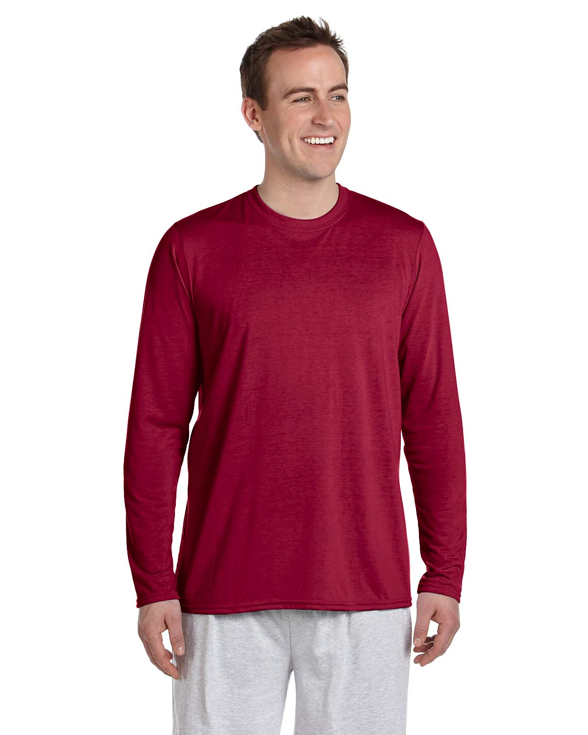 gildan performance 100 polyester 4 5 oz long sleeve t shirt g424 ebay. Black Bedroom Furniture Sets. Home Design Ideas