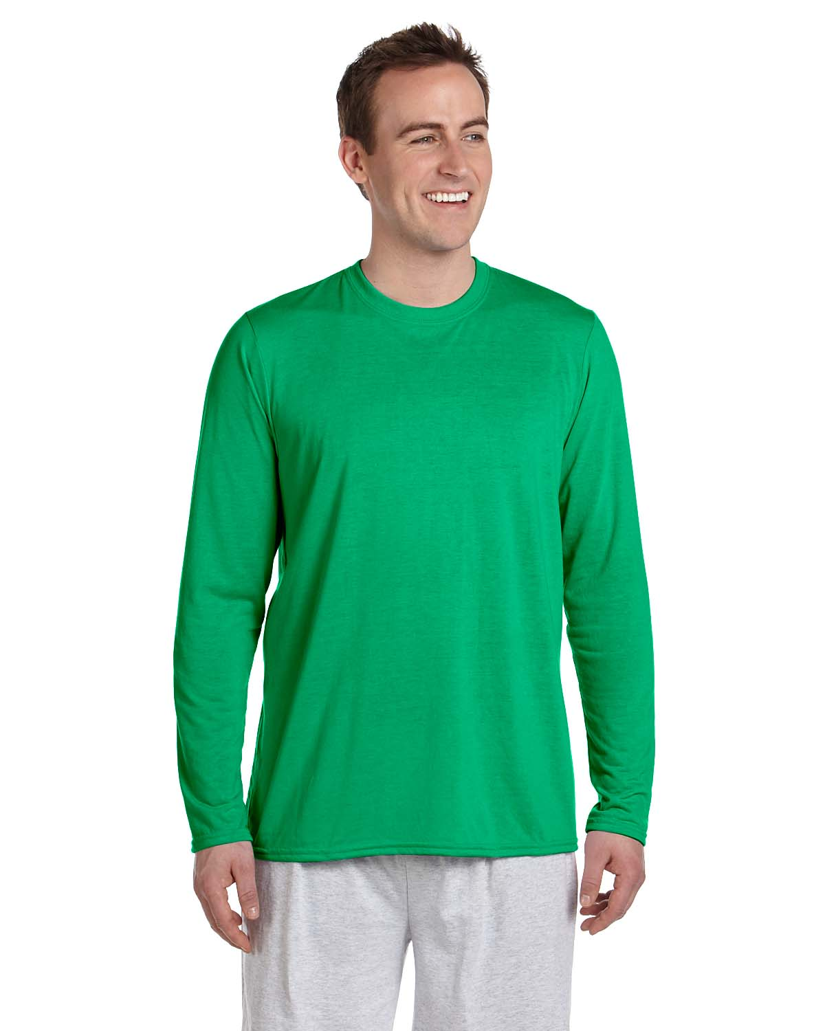 Gildan performance 100 polyester 4 5 oz long sleeve t for What is a performance t shirt
