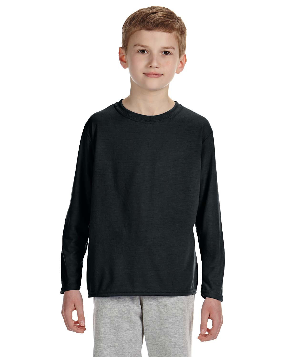 New gildan performance youth dri fit long sleeve t shirt for Long sleeve fitted tee shirt