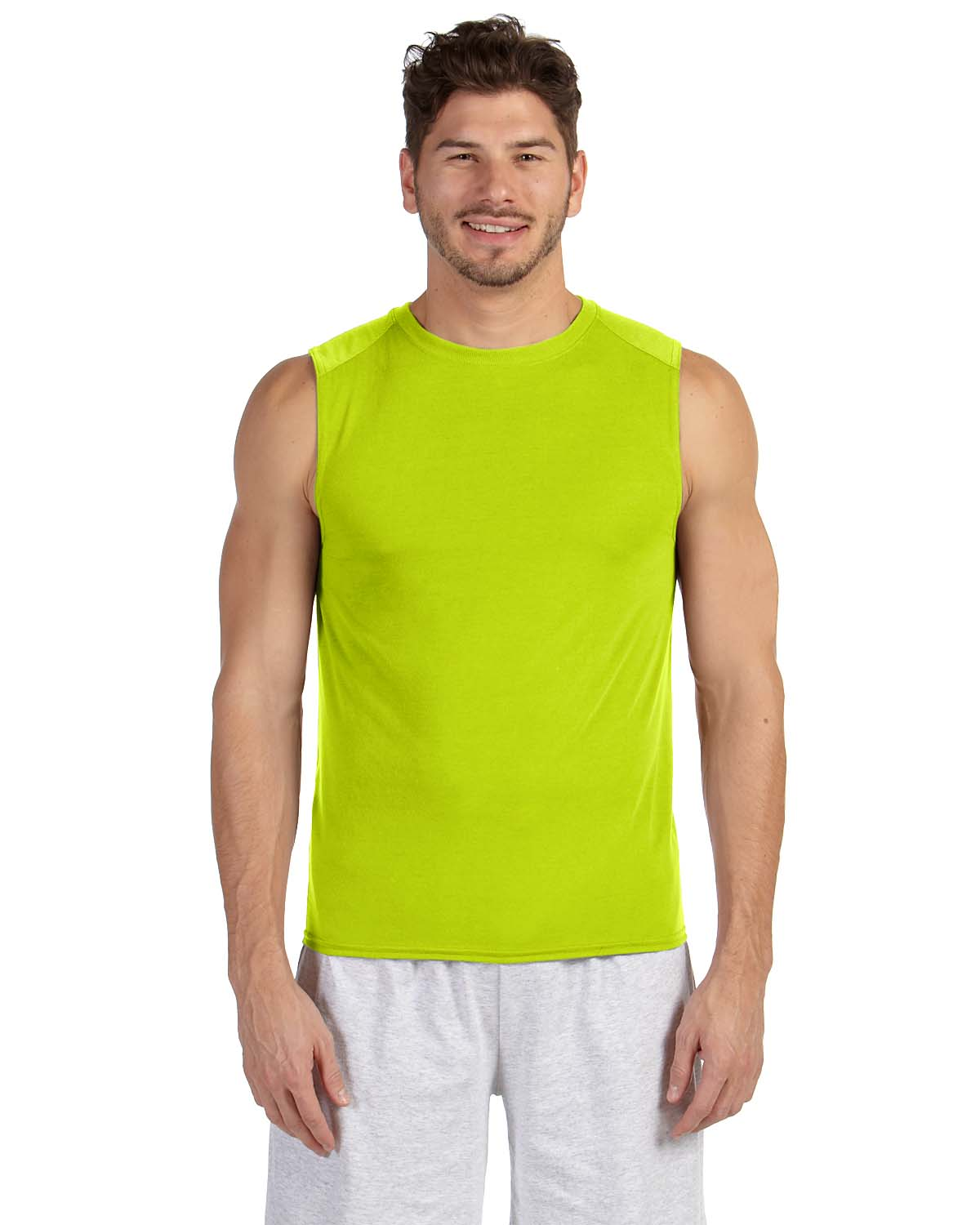 New gildan performance dri fit sleeveless muscle t shirt for Buy dri fit shirts
