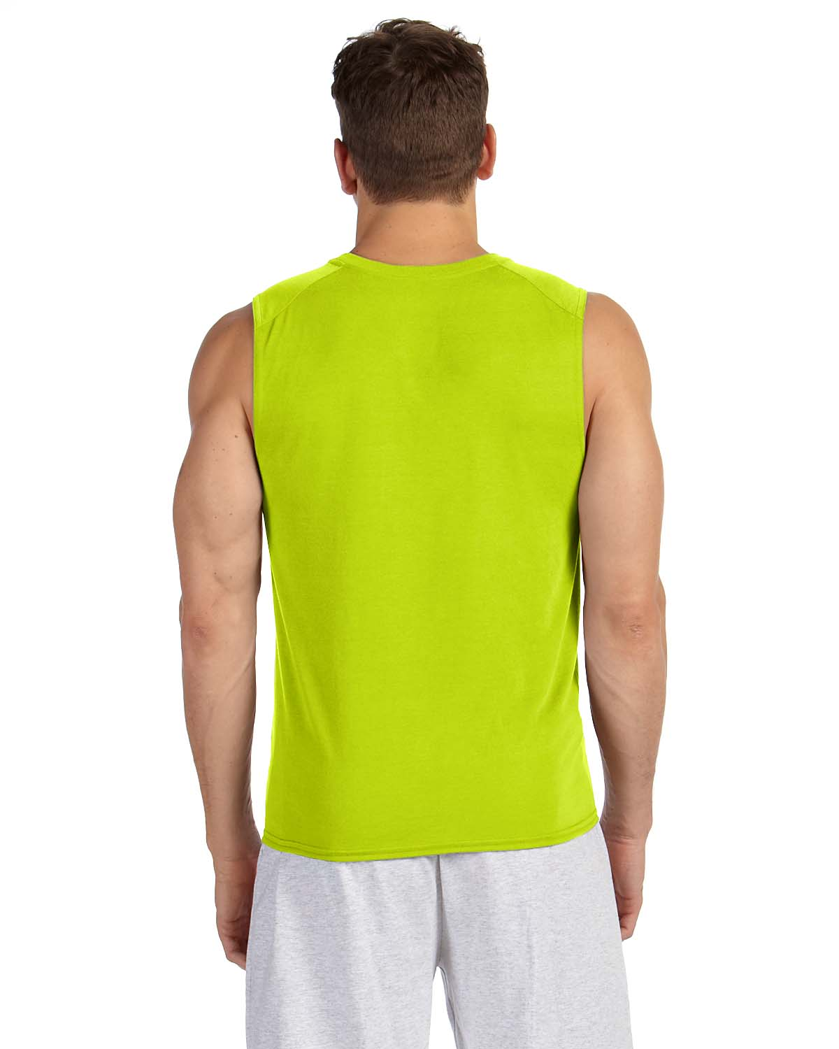 new gildan performance dri fit sleeveless muscle t shirt