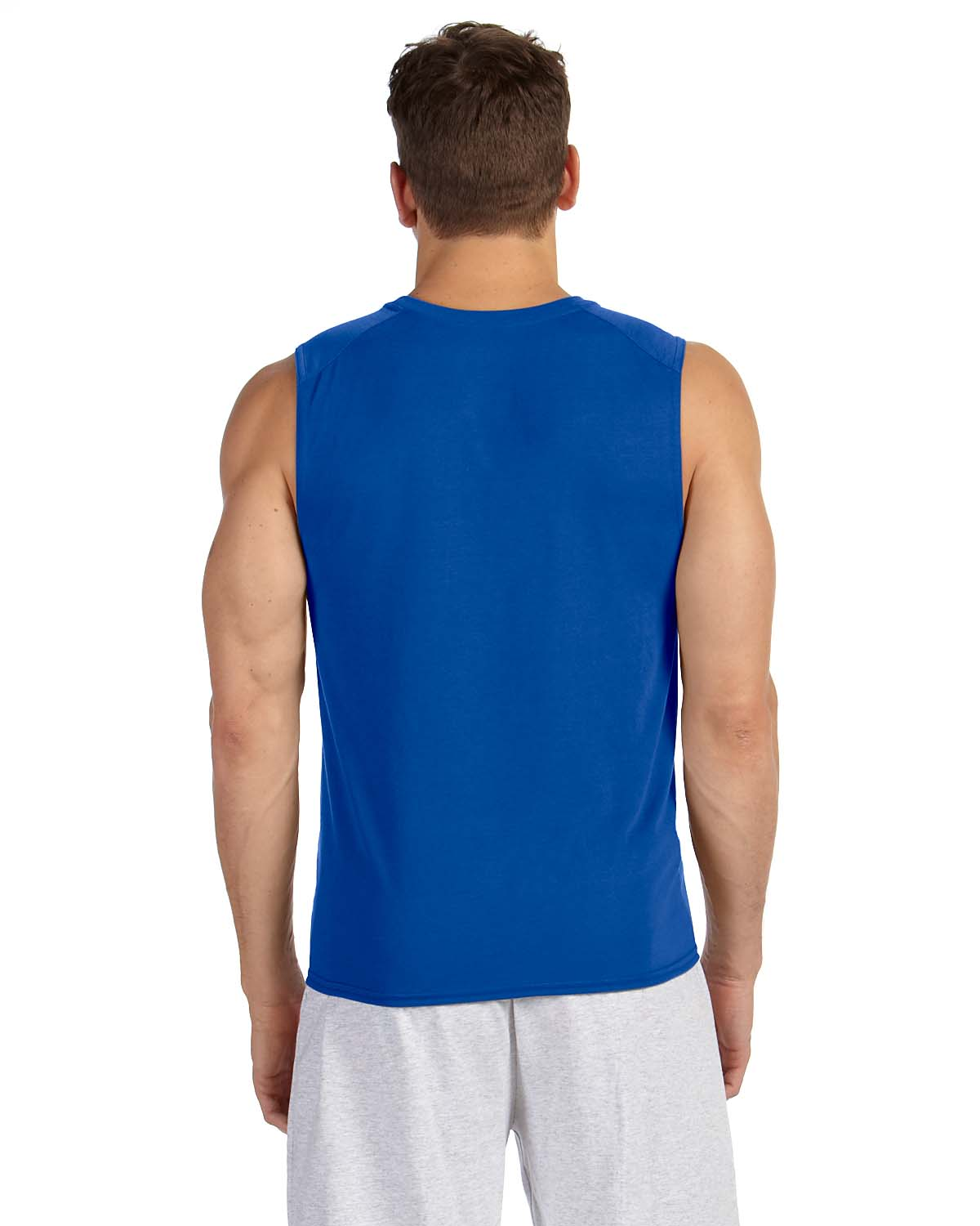 New gildan performance dri fit sleeveless muscle t shirt for What is a performance t shirt