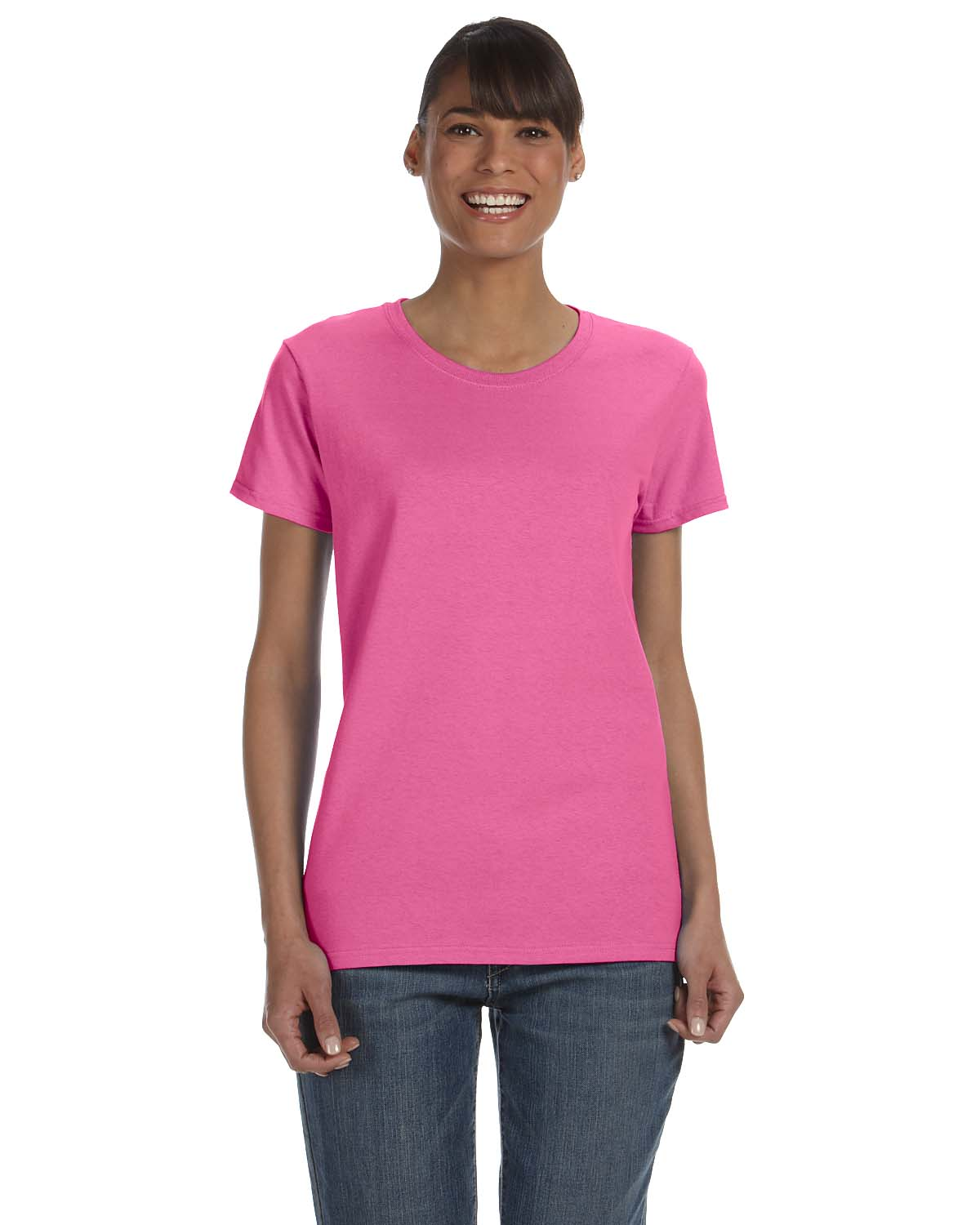 Gildan women 39 s short sleeves heavy cotton ladies 5 3 oz for Cotton shirts for womens online