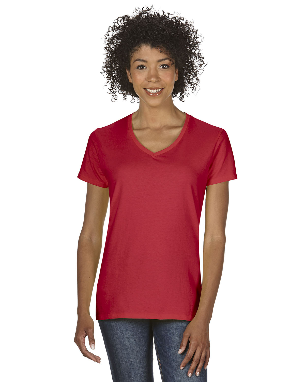 New gildan women 39 s heavy cotton short sleeves ladies v for Women s embellished t shirts