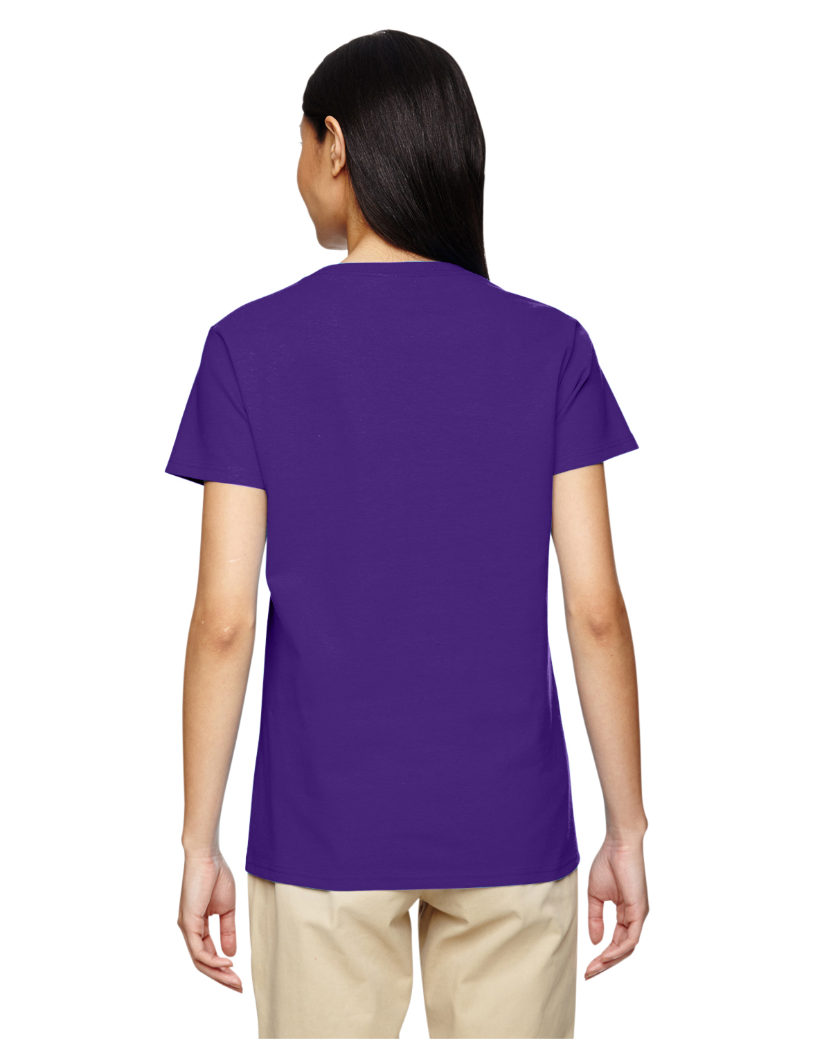 New gildan women 39 s heavy cotton short sleeves ladies v for Gildan t shirts online