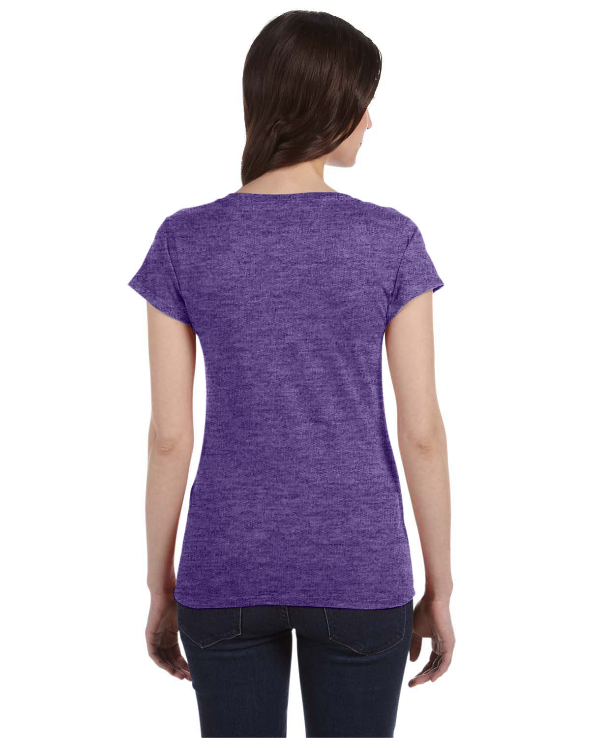 gildan ladies softstyle junior fit v neck t shirt g64vl ebay
