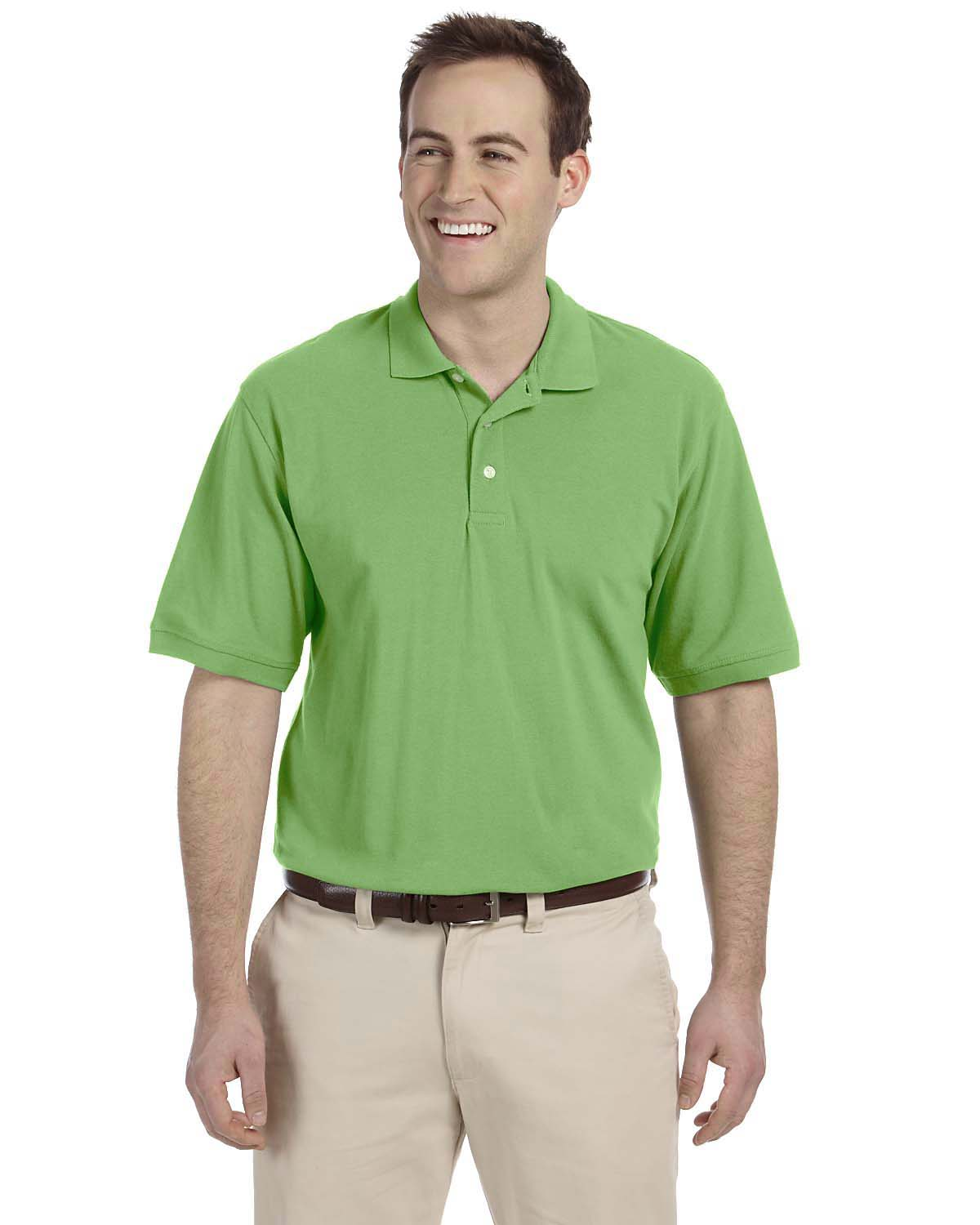 New harriton easy blend short sleeve big size golf polo for Big size polo shirts