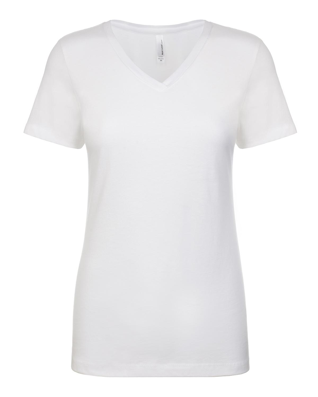 New next level ladies ideal v neck t shirt m n1540 ebay for Best white t shirt women s v neck