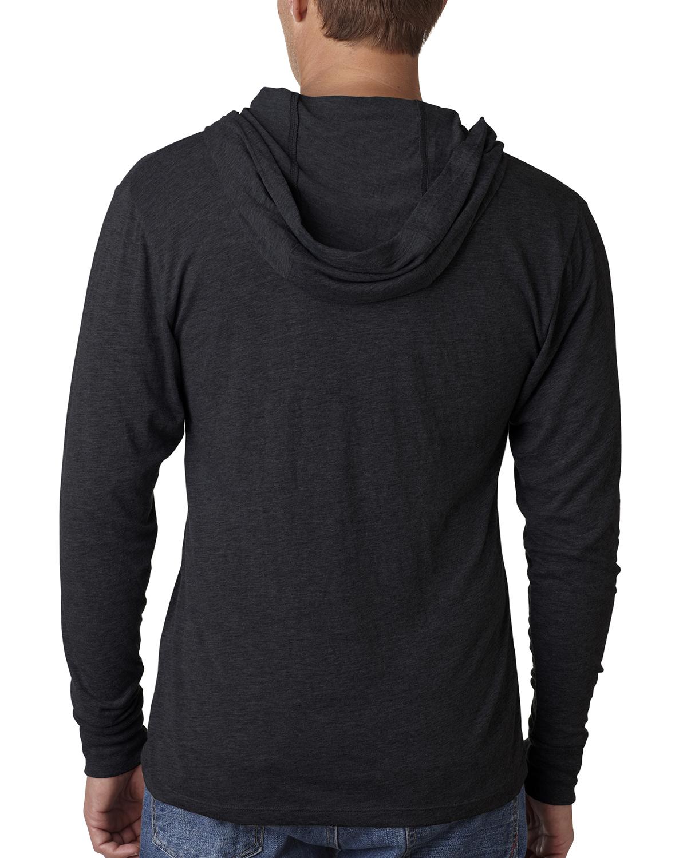 Black t shirt hoodie - New Next Level Premiun Men 039 S Triblend