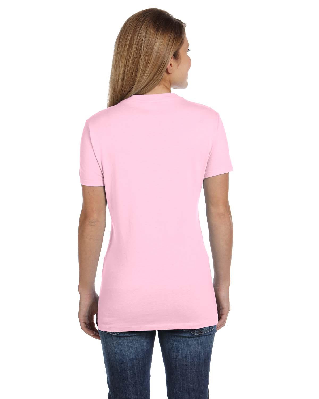 New hanes women 39 s 4 5 oz 100 cotton short sleeve nano t v for Short sleeve shirt for women