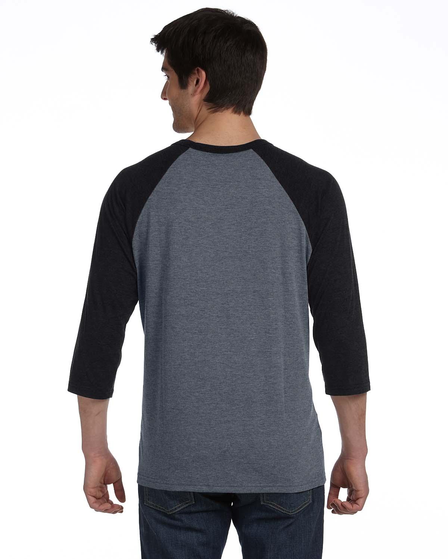 Canvas 3200 Premium 3//4 Baseball T-Shirt Raglan Tee Unisex Deep H Black Bella