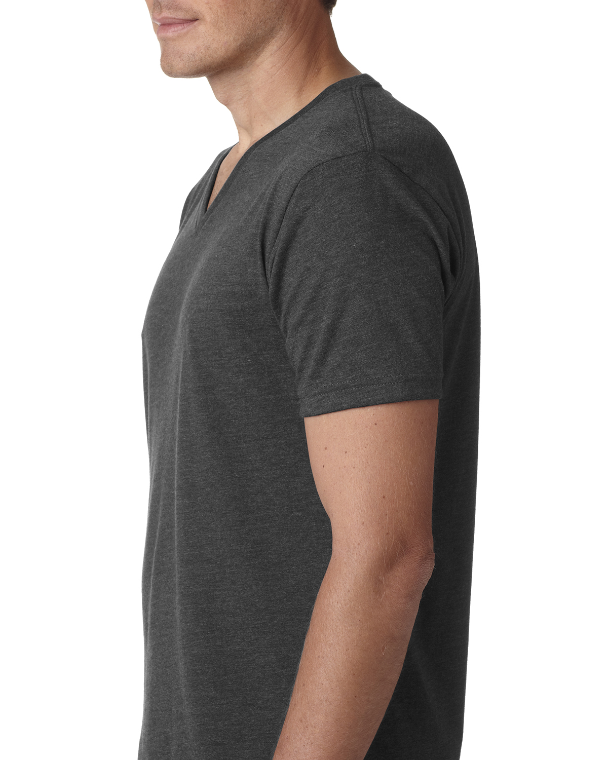 Next Level Mens CVC V-Neck Tee 6240-Stone Grey 12 Pack