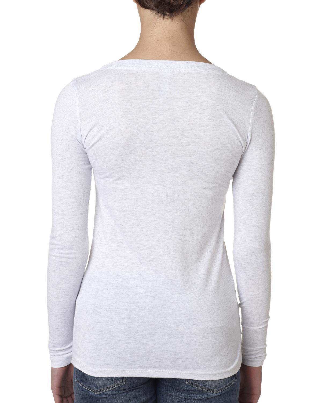 Next Level Women/'s Premium Fit Triblend Long Sleeve Scoop Neck T-Shirt M-6731