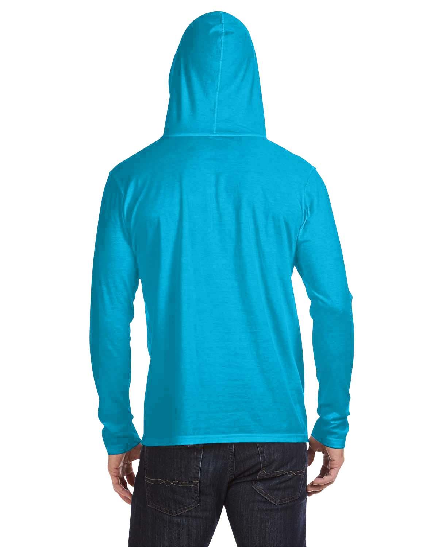 Anvil 100/% Cotton Lightweight Long Sleeve Hooded T-Shirt M-987AN