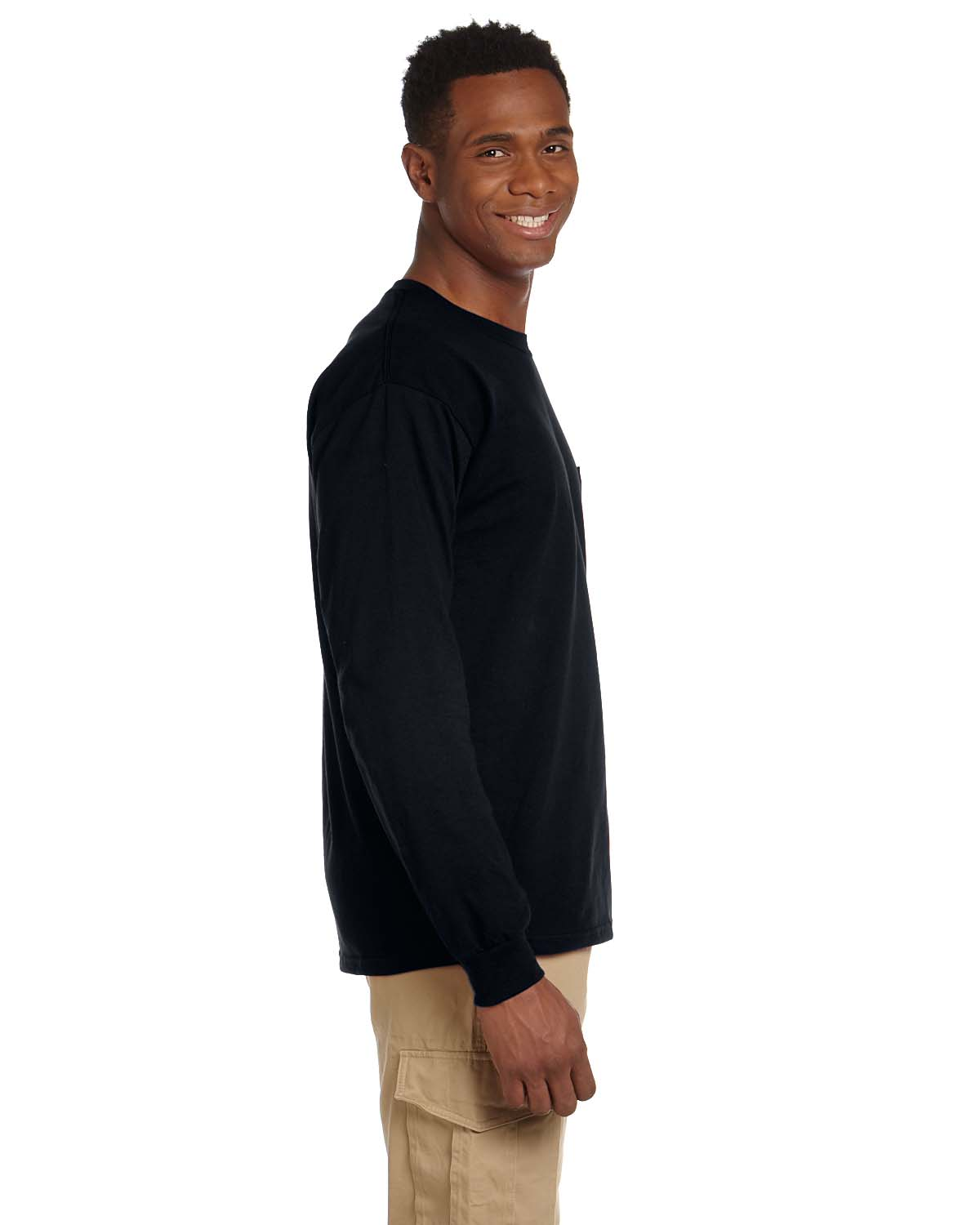 Gildan ultra cotton long sleeve t shirt with a pocket 2410 ebay - Gildan 2410 Ultra Cotton Long Sleeve T Shirt With A Pocket Xl Safety Green