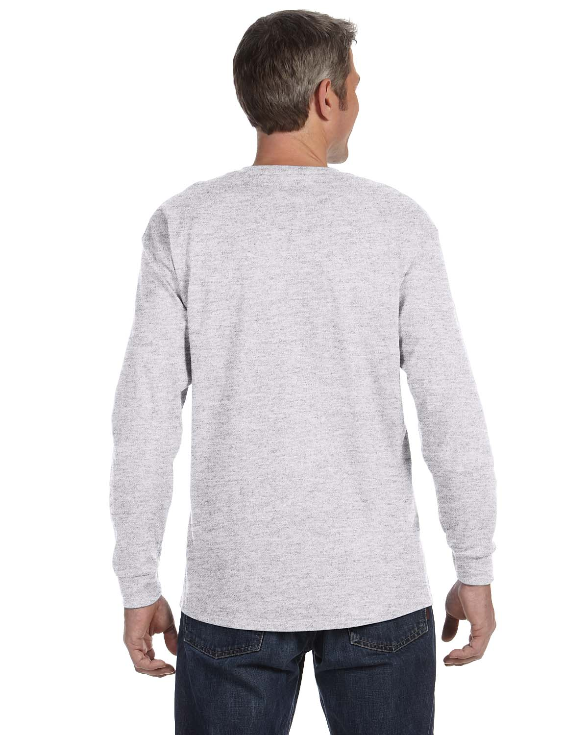 Gildan-Mens-T-Shirt-Long-Sleeve-Heavy-Cotton-5-3-oz-S-XL-R-G540-5400 thumbnail 5