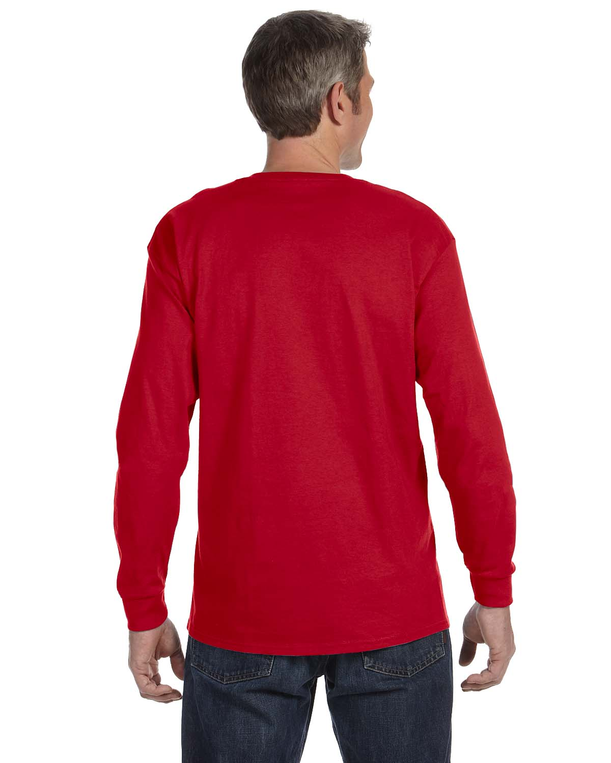 Gildan-Mens-T-Shirt-Long-Sleeve-Heavy-Cotton-5-3-oz-S-XL-R-G540-5400 thumbnail 41