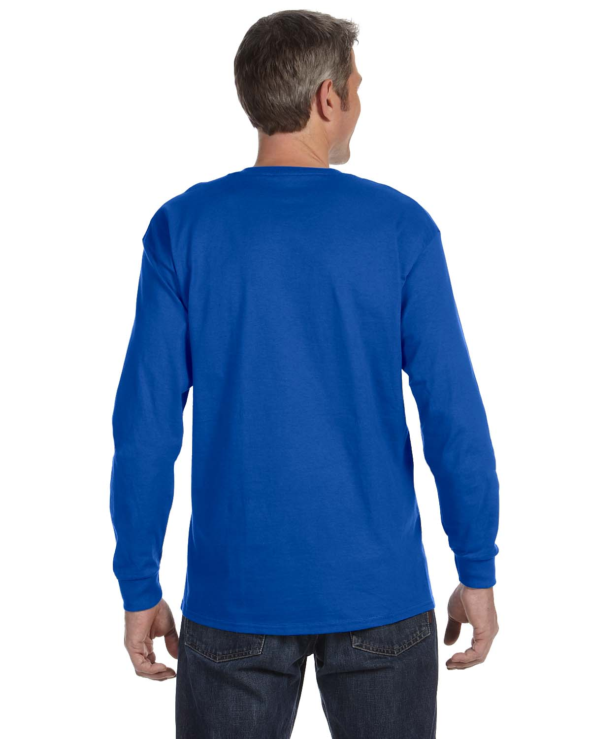 Gildan-Mens-T-Shirt-Long-Sleeve-Heavy-Cotton-5-3-oz-S-XL-R-G540-5400 thumbnail 44