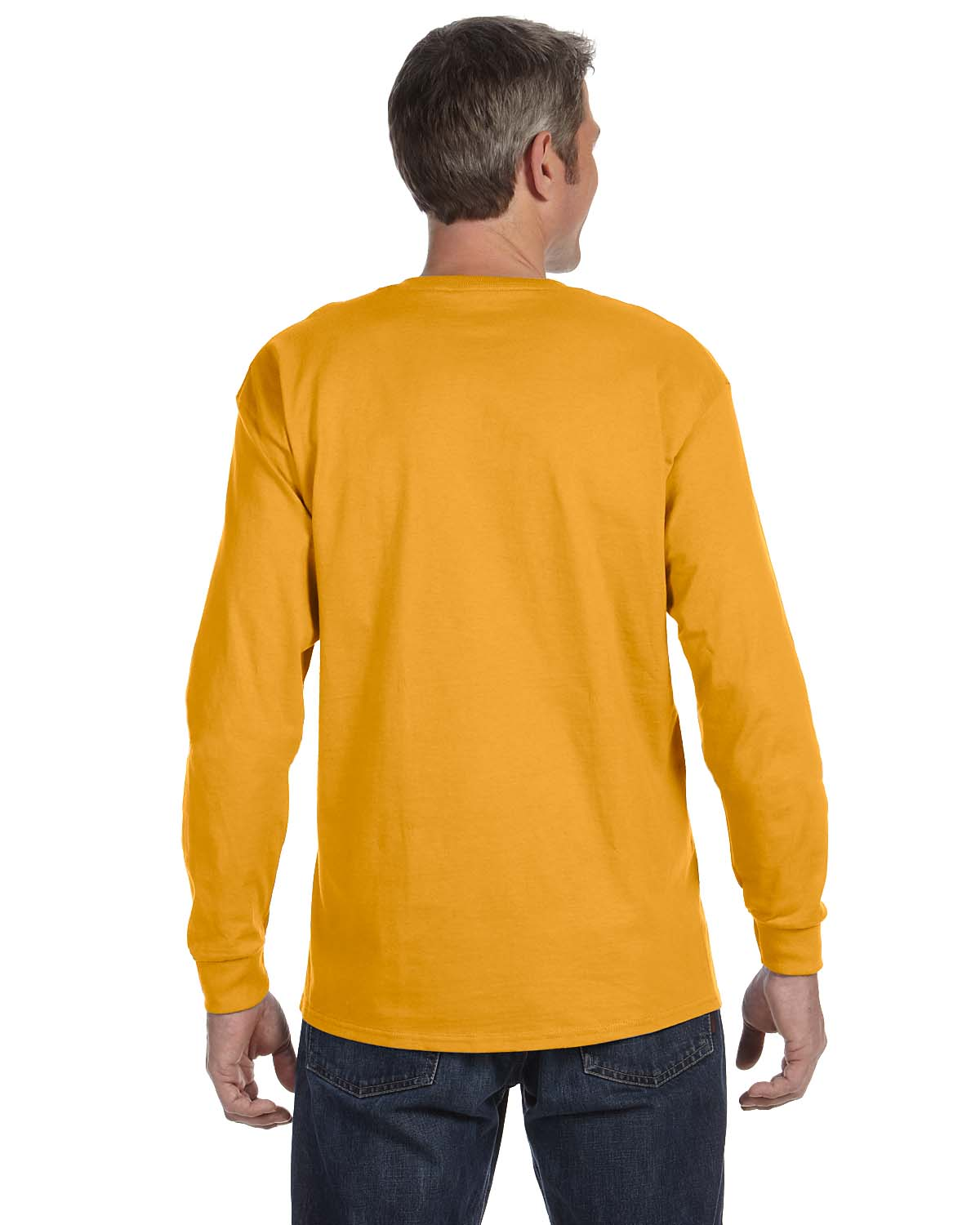 Gildan-Mens-T-Shirt-Long-Sleeve-Heavy-Cotton-5-3-oz-S-XL-R-G540-5400 thumbnail 23