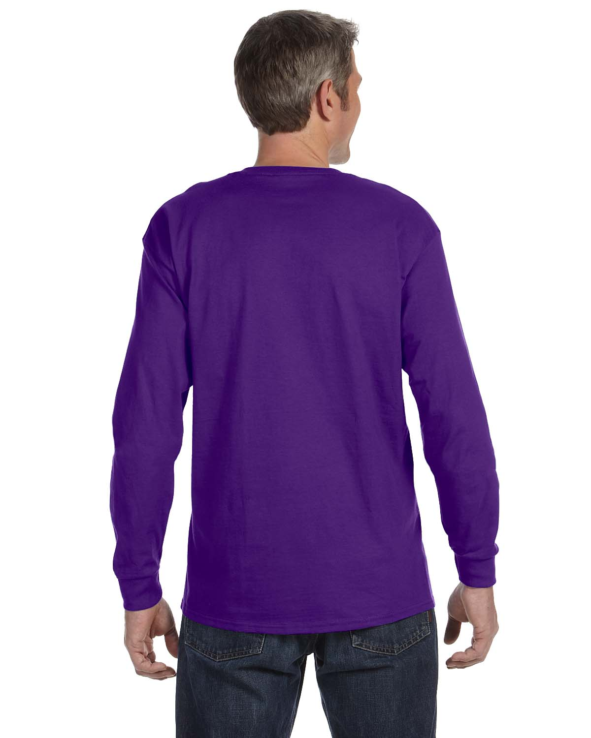 Gildan-Mens-T-Shirt-Long-Sleeve-Heavy-Cotton-5-3-oz-S-XL-R-G540-5400 thumbnail 38