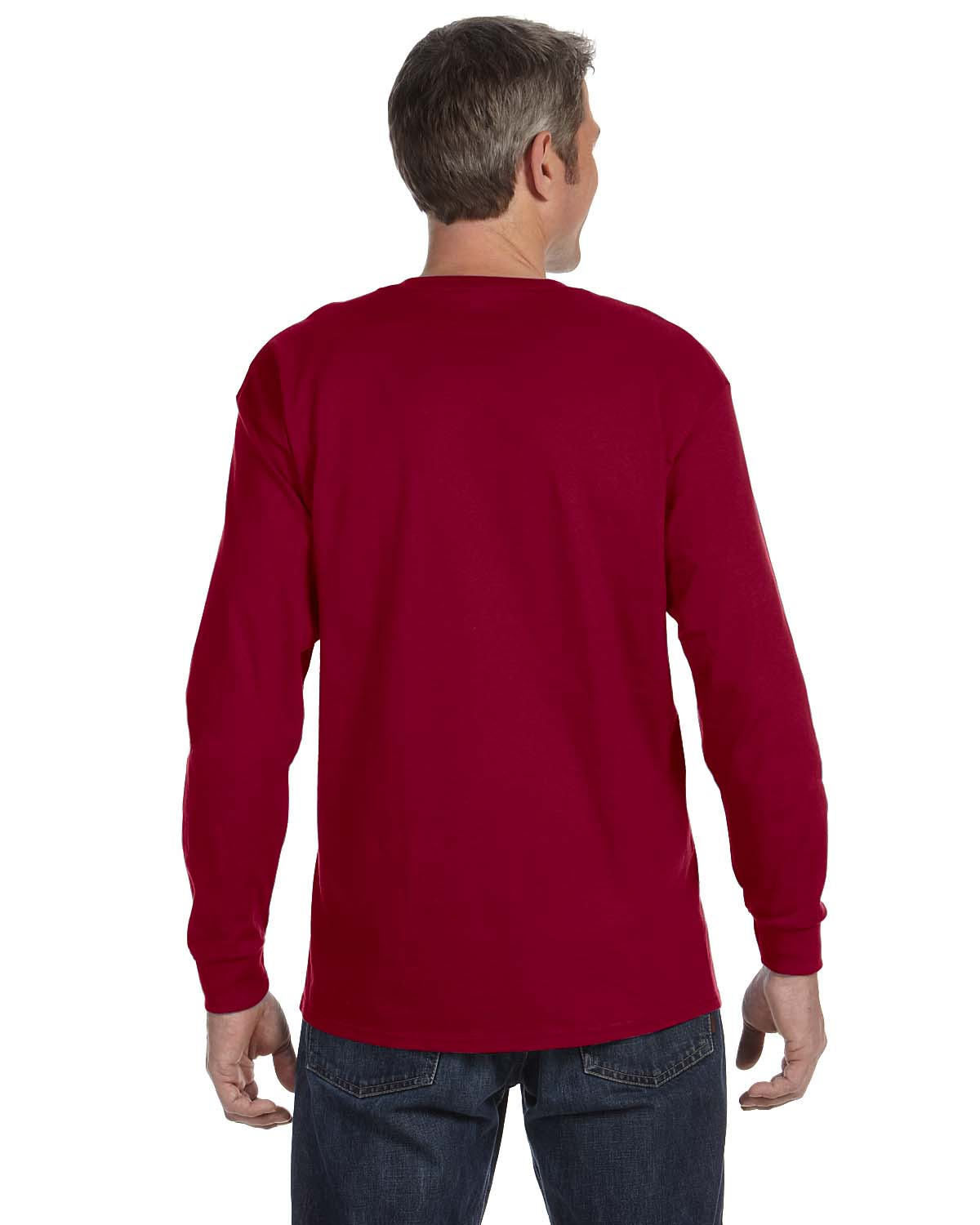 Gildan-Mens-T-Shirt-Long-Sleeve-Heavy-Cotton-5-3-oz-S-XL-R-G540-5400 thumbnail 11