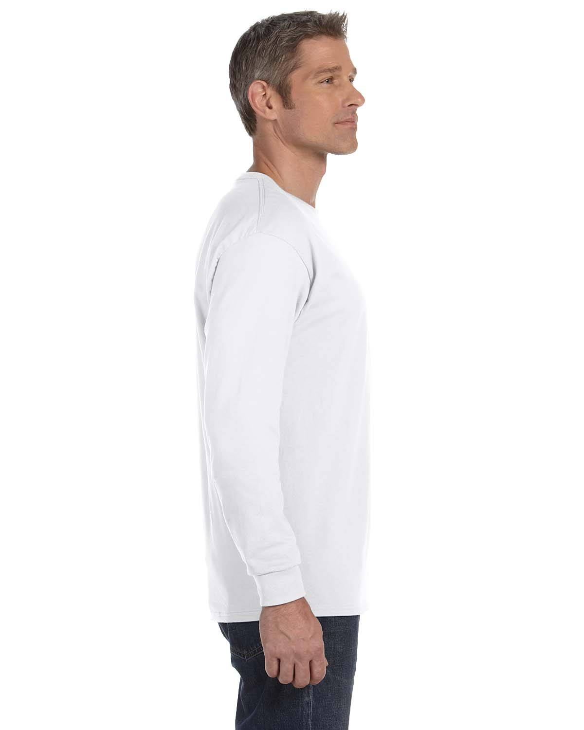 Gildan-Mens-T-Shirt-Long-Sleeve-Heavy-Cotton-5-3-oz-S-XL-R-G540-5400 thumbnail 57