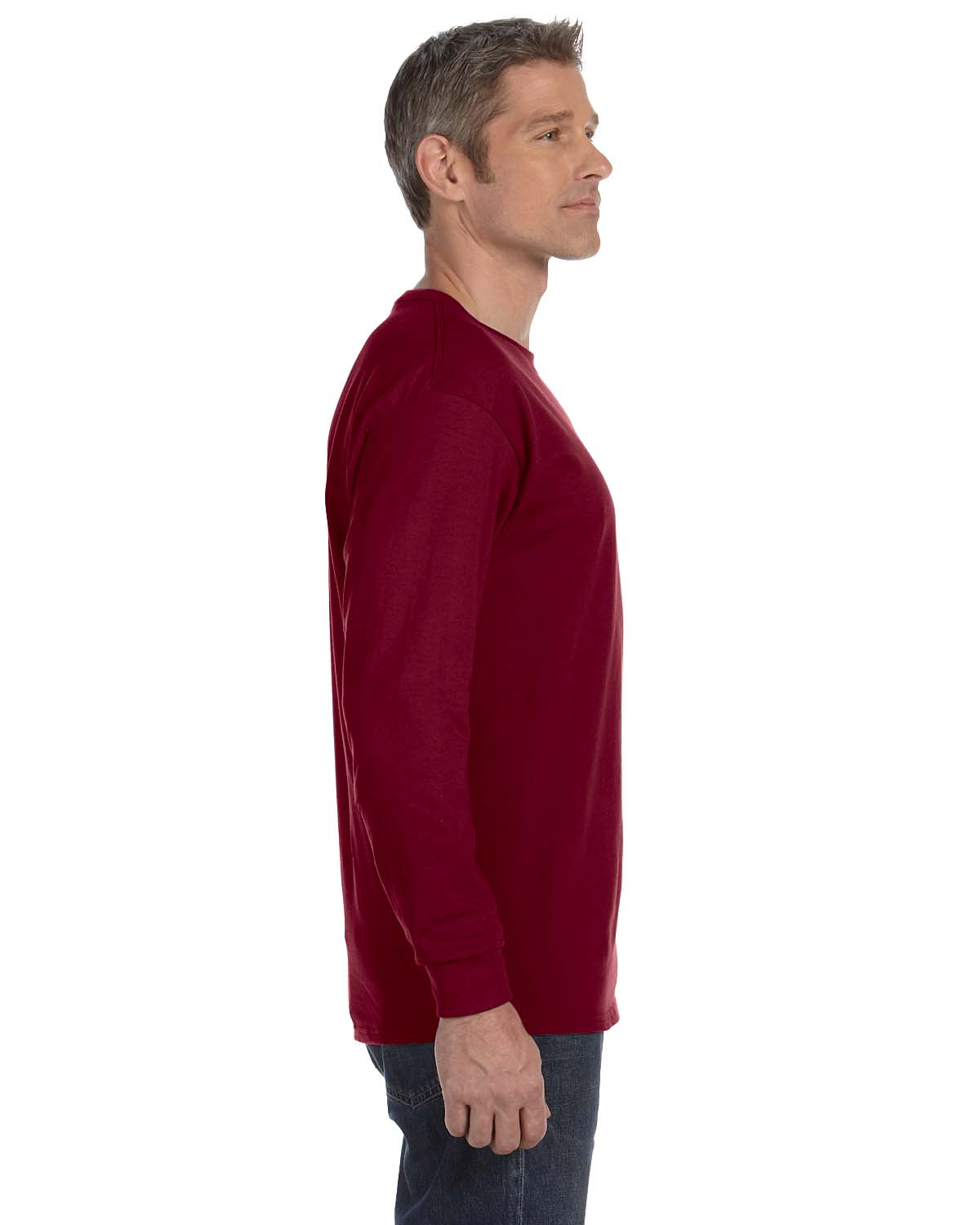Gildan-Mens-T-Shirt-Long-Sleeve-Heavy-Cotton-5-3-oz-S-XL-R-G540-5400 thumbnail 21