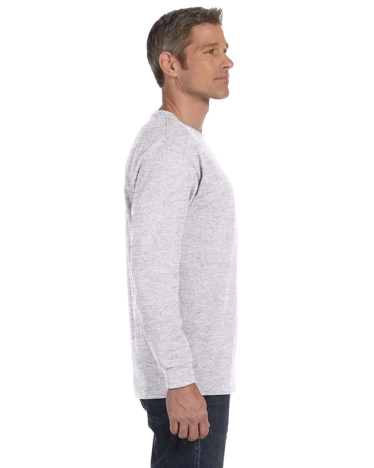 Gildan-Mens-T-Shirt-Long-Sleeve-Heavy-Cotton-5-3-oz-S-XL-R-G540-5400 thumbnail 6