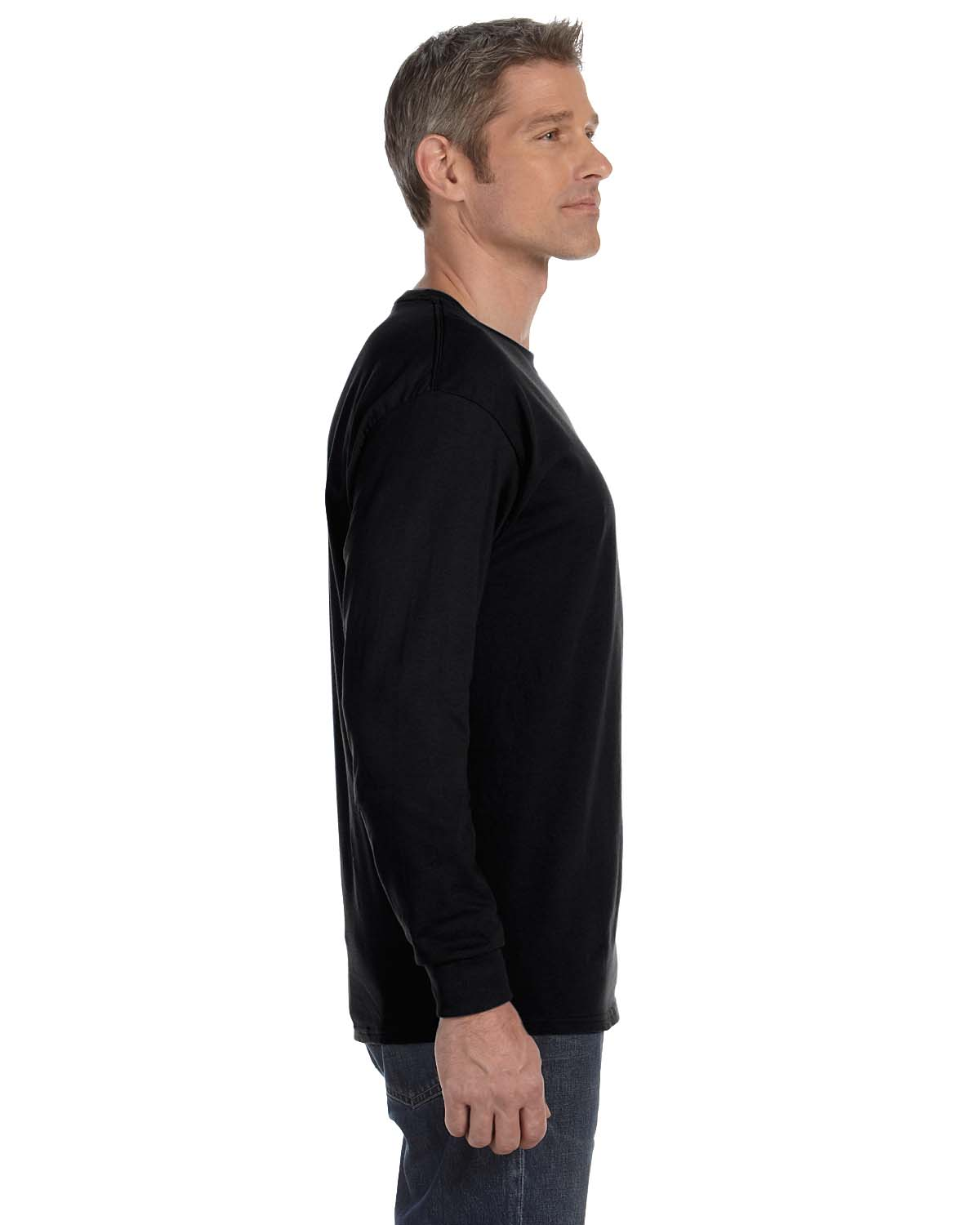 Gildan-Mens-T-Shirt-Long-Sleeve-Heavy-Cotton-5-3-oz-S-XL-R-G540-5400 thumbnail 9