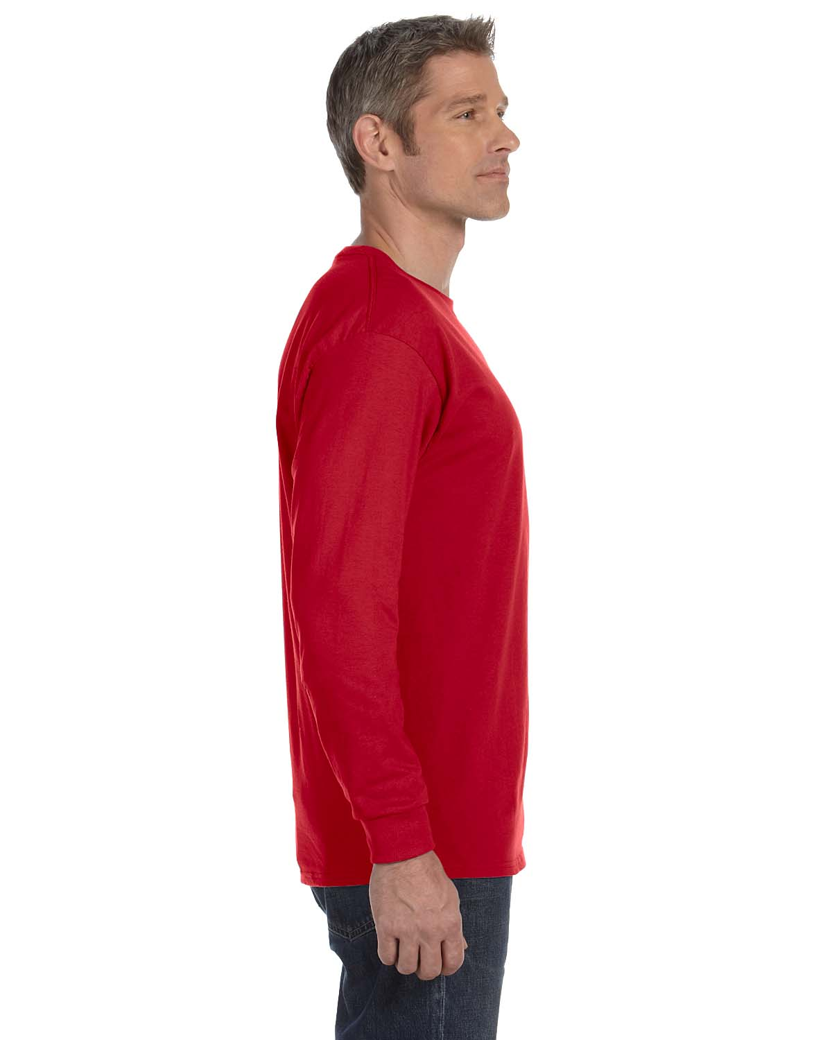 Gildan-Mens-T-Shirt-Long-Sleeve-Heavy-Cotton-5-3-oz-S-XL-R-G540-5400 thumbnail 42