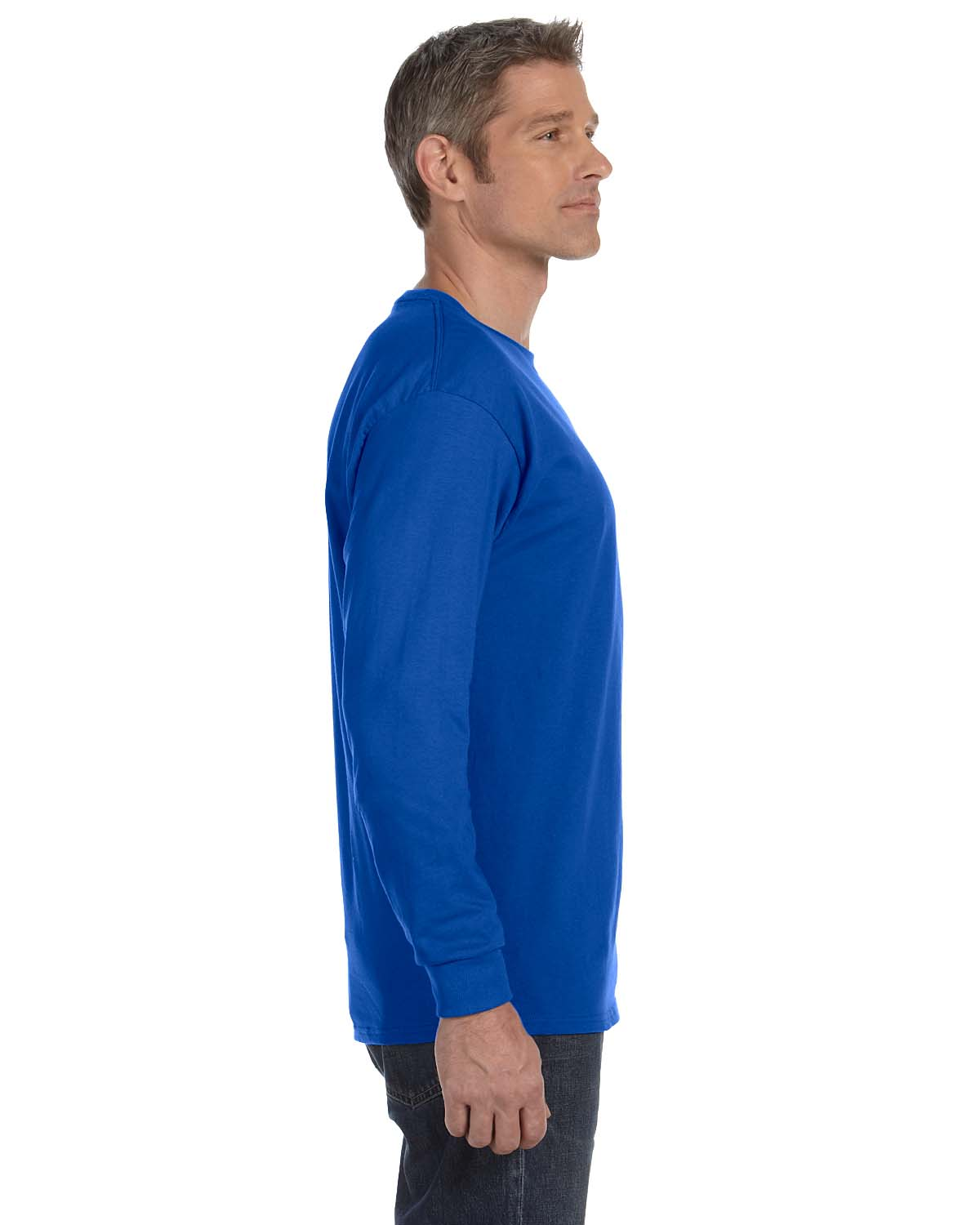 Gildan-Mens-T-Shirt-Long-Sleeve-Heavy-Cotton-5-3-oz-S-XL-R-G540-5400 thumbnail 45