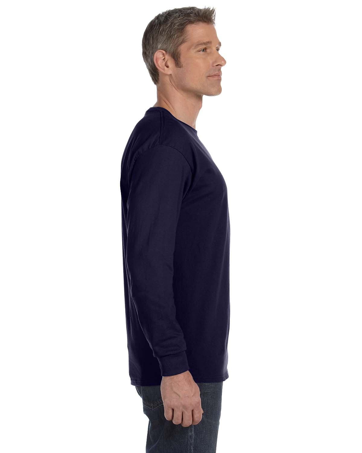 Gildan-Mens-T-Shirt-Long-Sleeve-Heavy-Cotton-5-3-oz-S-XL-R-G540-5400 thumbnail 36