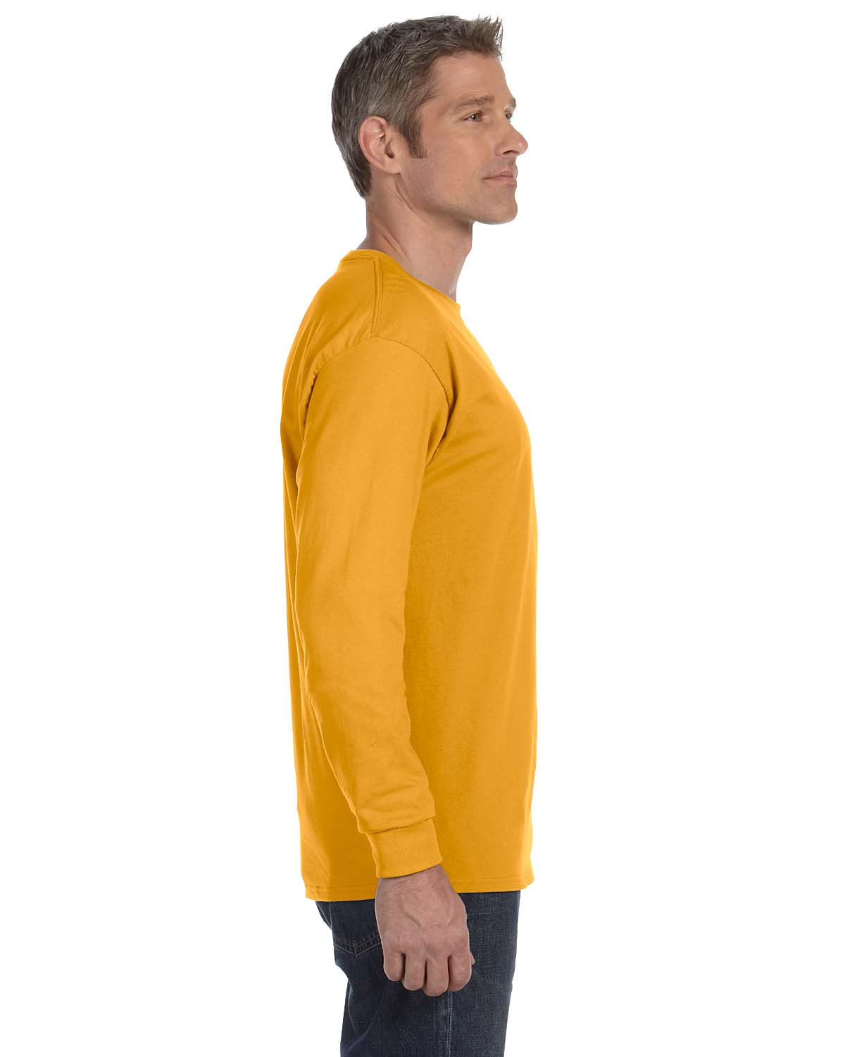 Gildan-Mens-T-Shirt-Long-Sleeve-Heavy-Cotton-5-3-oz-S-XL-R-G540-5400 thumbnail 24