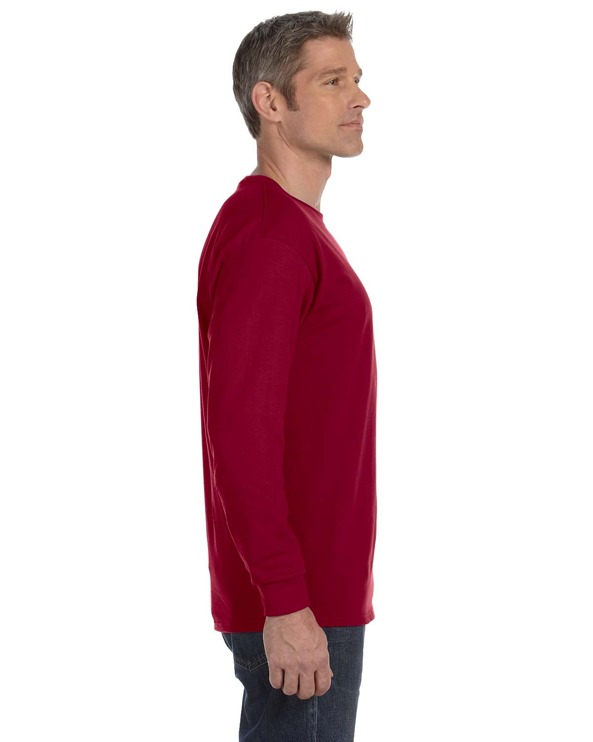 Gildan-Mens-T-Shirt-Long-Sleeve-Heavy-Cotton-5-3-oz-S-XL-R-G540-5400 thumbnail 12