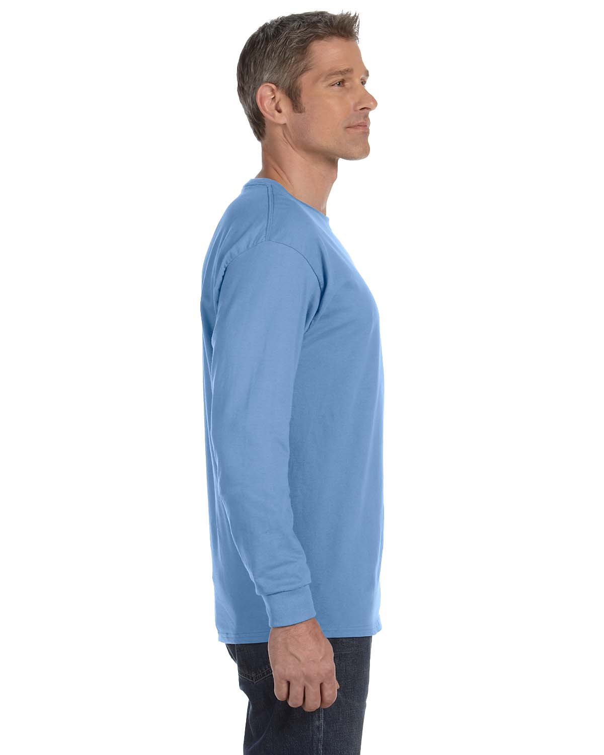 Gildan-Mens-T-Shirt-Long-Sleeve-Heavy-Cotton-5-3-oz-S-XL-R-G540-5400 thumbnail 15