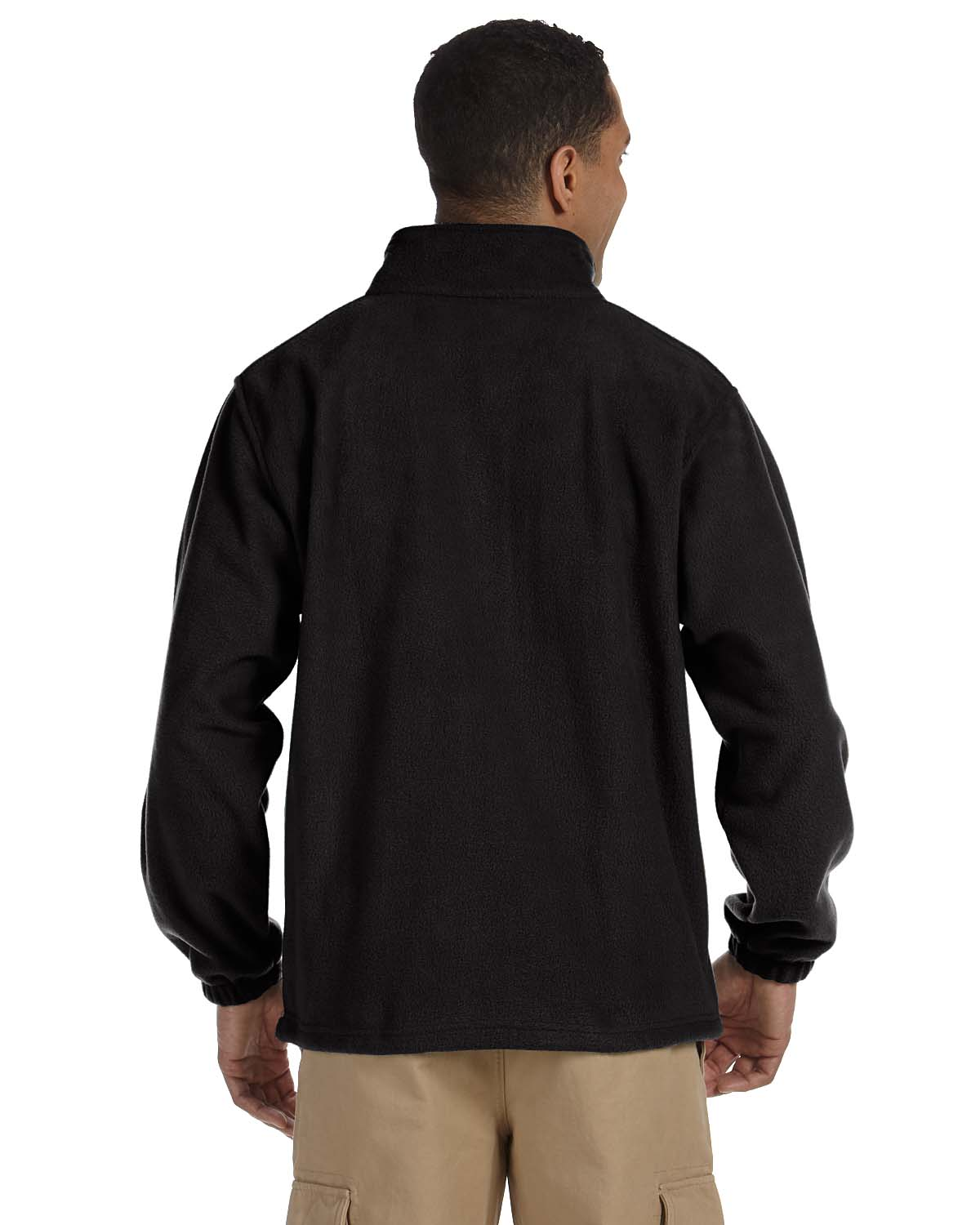 Harriton-Jacket-Men-039-s-8-oz-Full-Zip-Fleece-Solid-S-XL-R-M990 thumbnail 6
