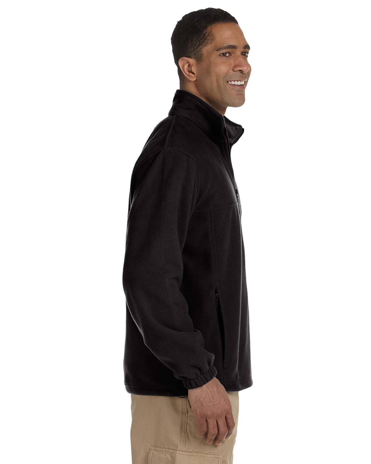 Harriton-Jacket-Men-039-s-8-oz-Full-Zip-Fleece-Solid-S-XL-R-M990 thumbnail 7