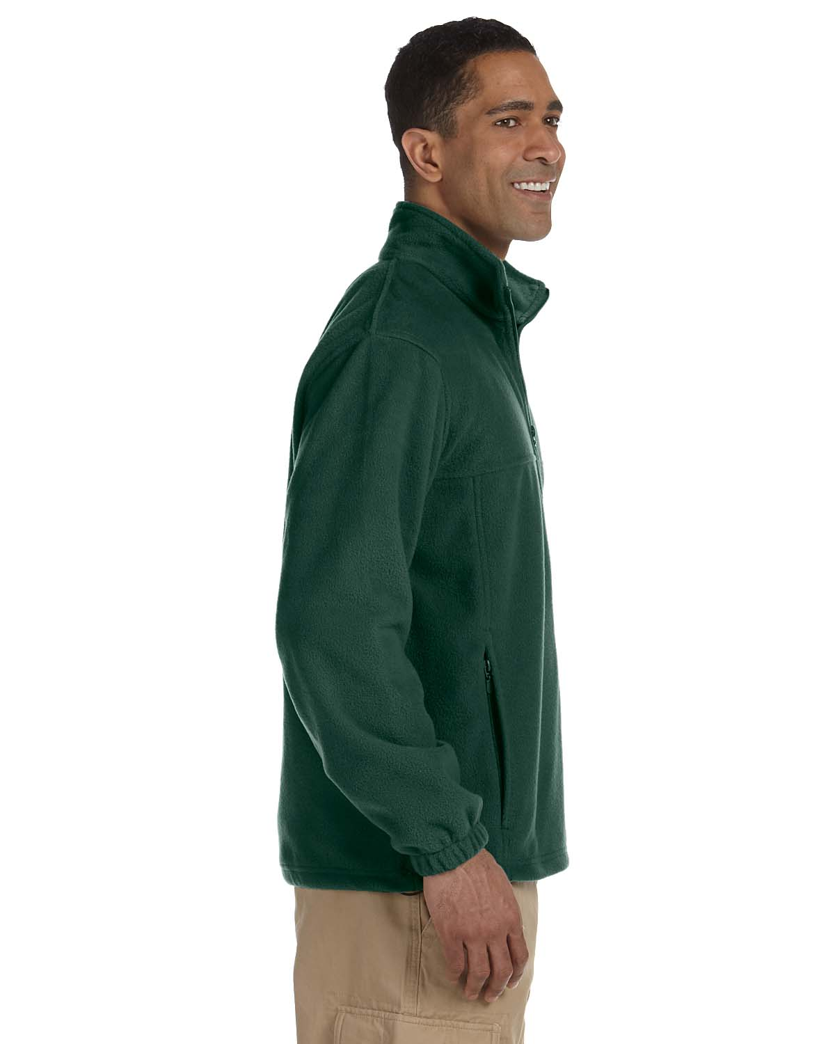 Harriton-Jacket-Men-039-s-8-oz-Full-Zip-Fleece-Solid-S-XL-R-M990 thumbnail 16